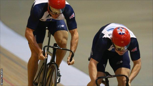 Philip Hindes and Chris Hoy