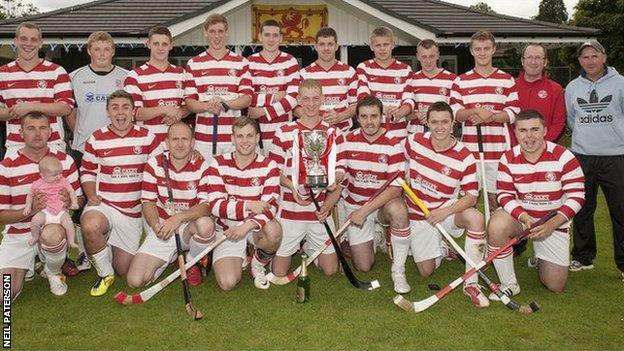 Lochaber pose with the Balliemore Cup