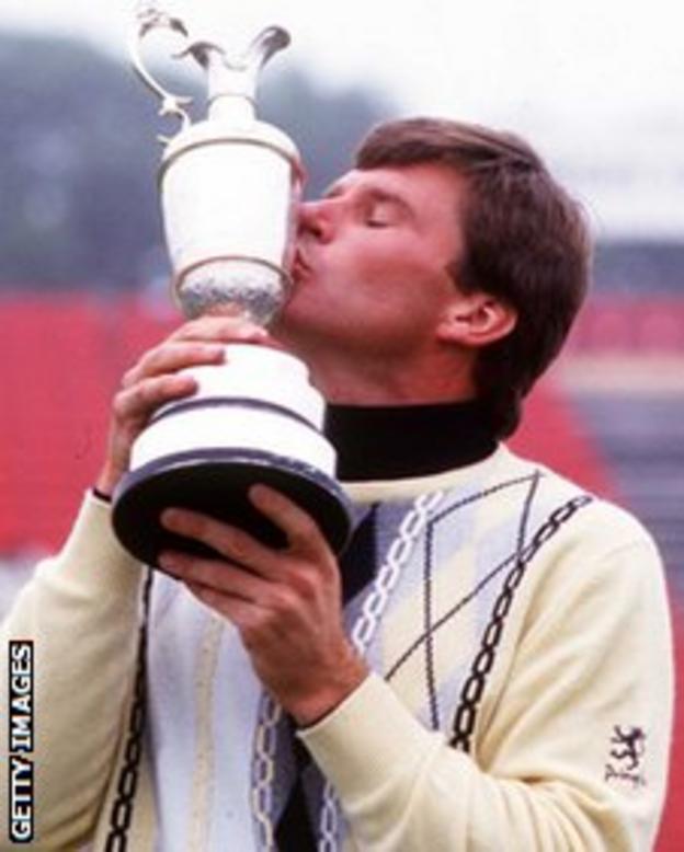 Nick Faldo wins The Open in 1987