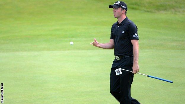 Martin Laird struggled on Saturday at Royal Lytham