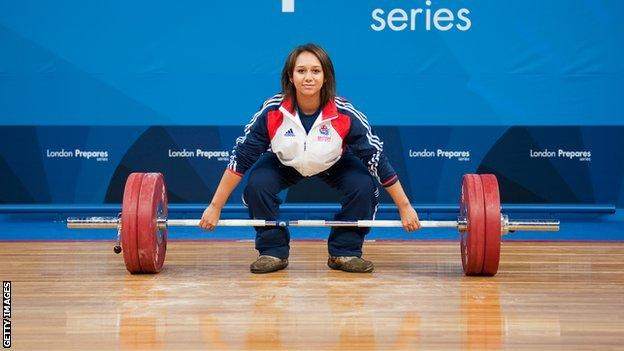 Team GB weightlifter Zoe Smith