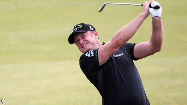 Jamie Donaldson at the 2012 Open