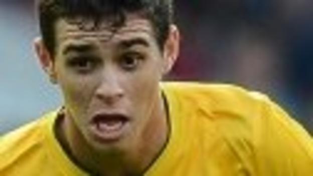 Oscar in action for Brazil