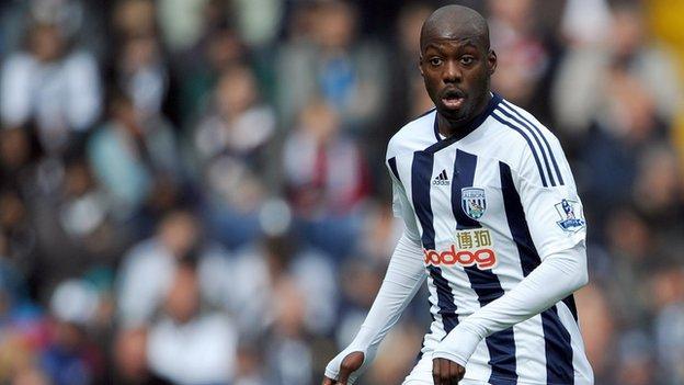 West Bromwich Albion and DR Congo midfielder Youssouf Mulumbu