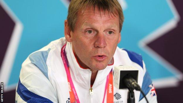 Great Britain coach Stuart Pearce