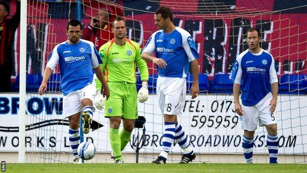 St Johnstone players