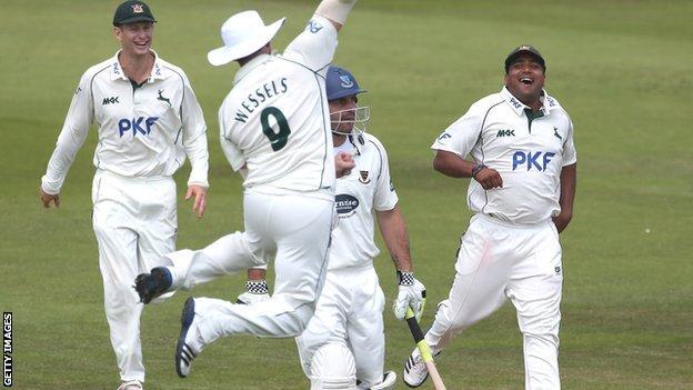 Nottinghamshire celebrate