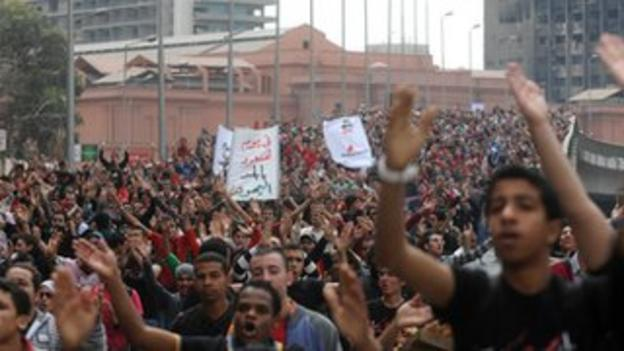 Thousands of Al Ahly fans took to the streets of Cairo to demand justice for those who died a month after the tragedy