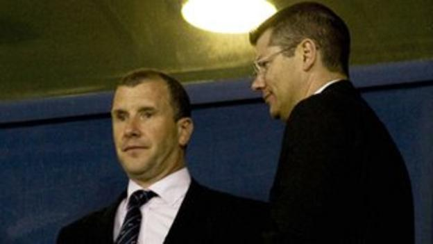 Stewart Regan and Neil Doncaster