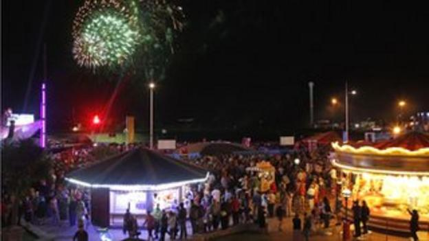 Celebrations of the opening ceremony at Weymouth