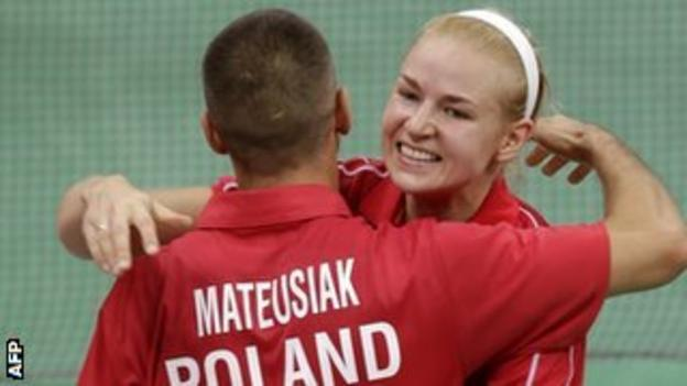 Poland's Robert Mateusiak and Nadiezda Zieba