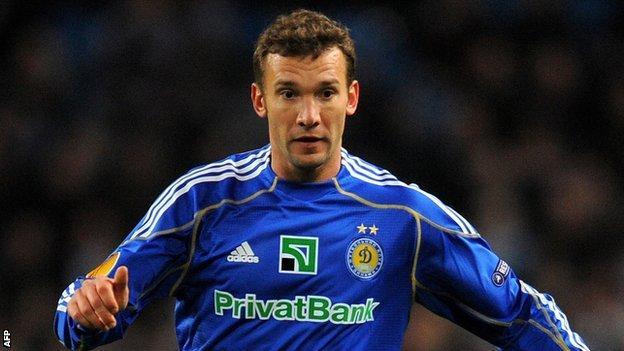 Andriy Shevchenko playing for Dynamo Kiev