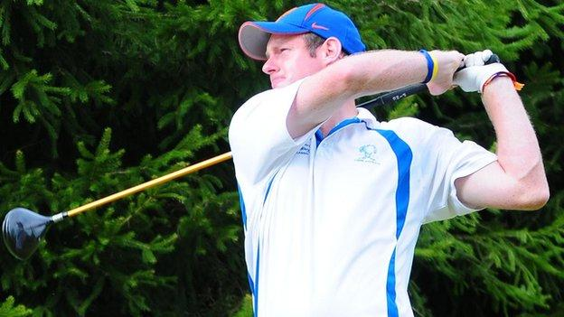 Winner Kieran Molloy in action at the 2011 North of Ireland Strokeplay event at Galgorm