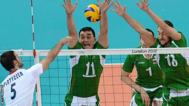 Great Britain playing against Bulgaria