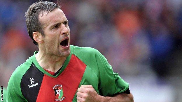 Former Glentoran midfielder Ciaran Martyn