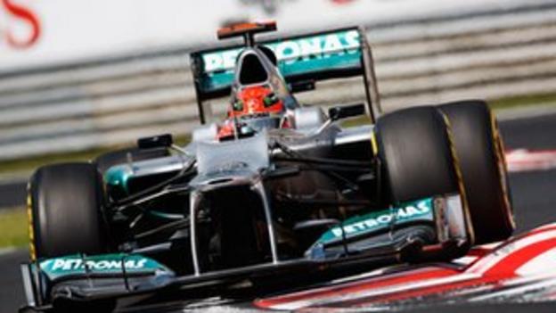 Michael Schumacher at the Hungarian Grand Prix
