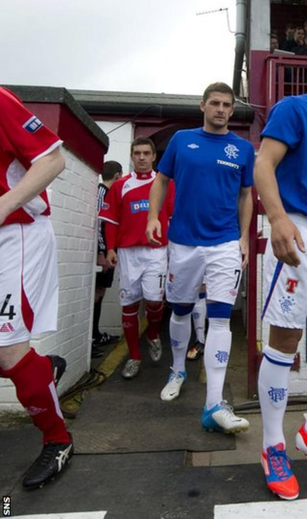 The new Rangers made their debut in the Ramsdens Cup against Brechin on Sunday