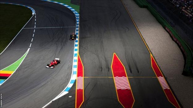 Fernando Alonso at the Hockenheimring circuit during the German Grand Prix