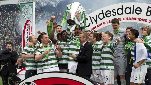 Celtic won the Scottish title last season