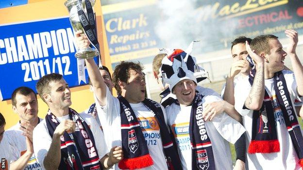 Ross County life the Division One trophy last season