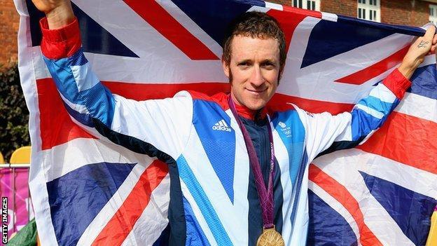 Bradley Wiggins after winning gold