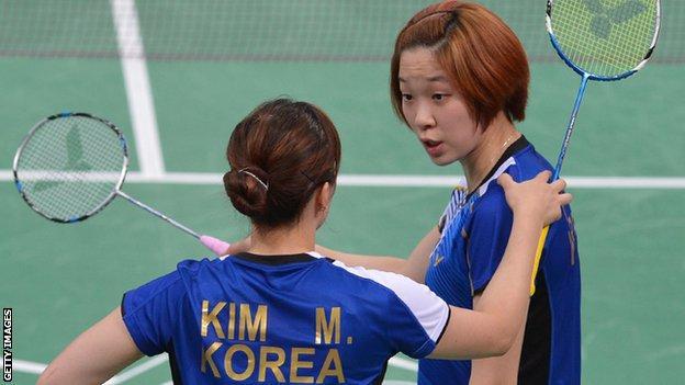 Ha Jung-Eun and Kim Min-Jung