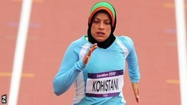 Afghanistan sprinter Tahmina Kohistani