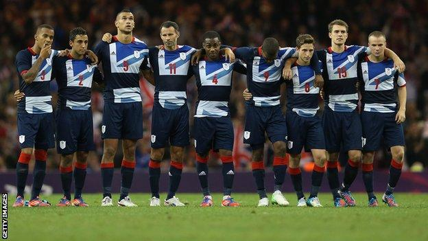 GB men's football team in penalty shoot-out defeat against South Korea at London 2012