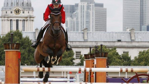 Tiffany Foster competes at the London Olympics