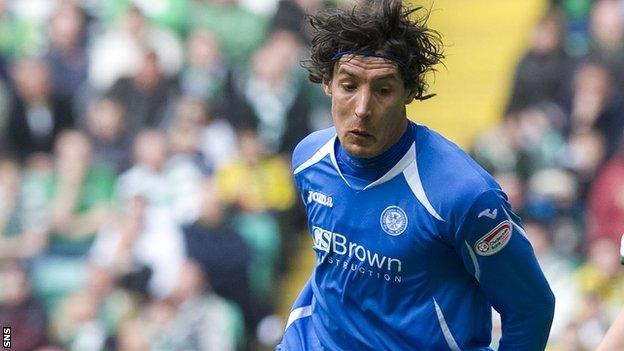 Francisco Sandaza in action for St Johnstone