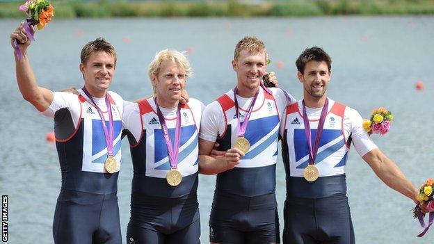 Alex Gregory, Pete Reed, Tom James and Andrew Triggs Hodge