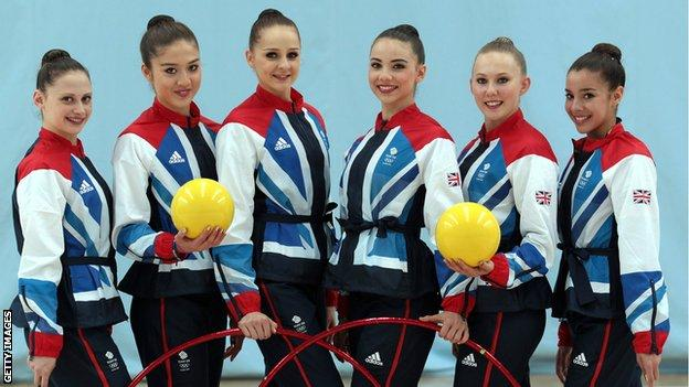 British Rhythmic Gymnastics team