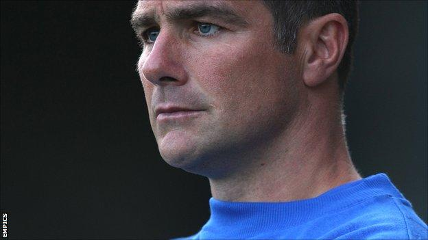 Crawley Town manager Richie Barker