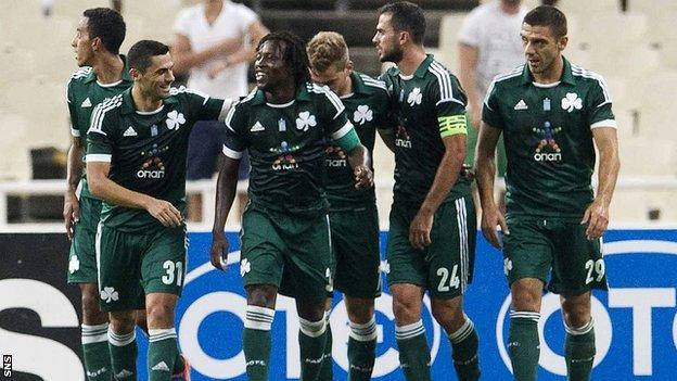 Panathinaikos were comfortable 3-0 winners
