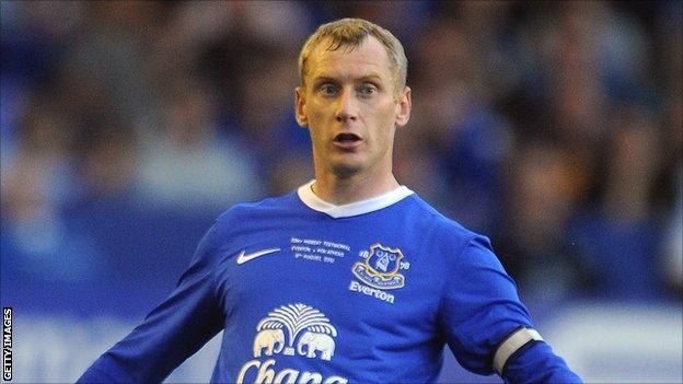 Everton full-back Tony Hibbert
