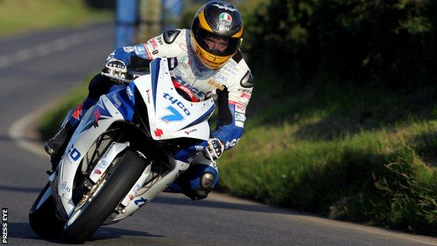 Guy Martin secured Superbike pole for Saturday's Ulster Grand Prix races