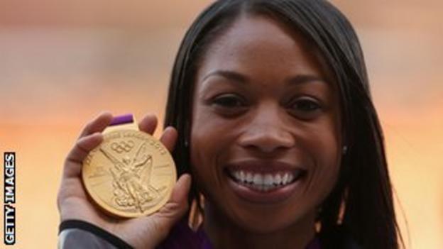 US sprinter Allyson Felix