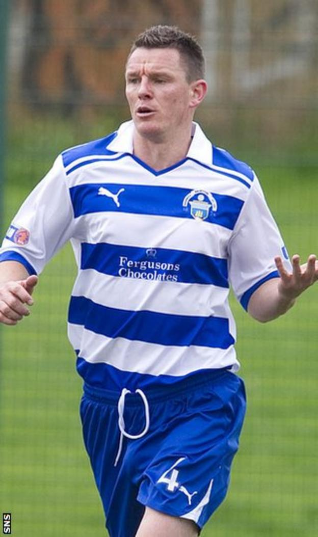Martin Hardie celebrates scoring for Morton after leaving Dunfermline