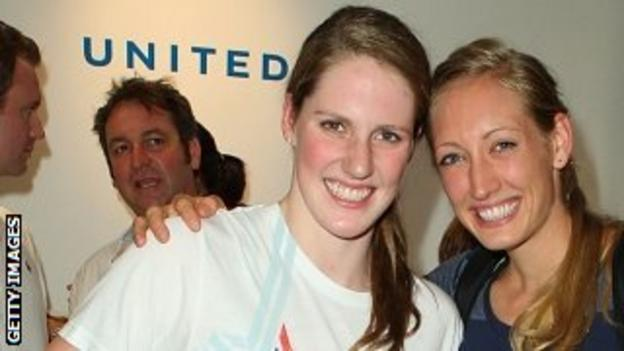 Olympic swimmers Missy Franklin and Breeja Larson