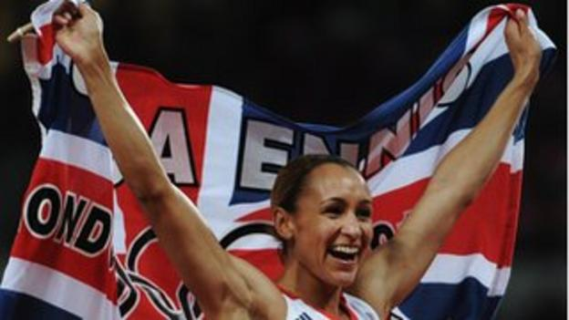 Flying the flag: Golden girl Jessica Ennis lived up to her billing as the face of the Games