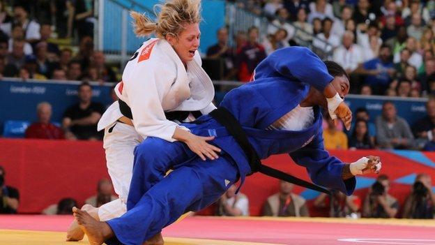 Gemma Gibbons wins a judo medal for GB