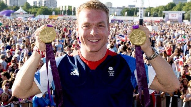 Sir Chris Hoy won two gold medals in London