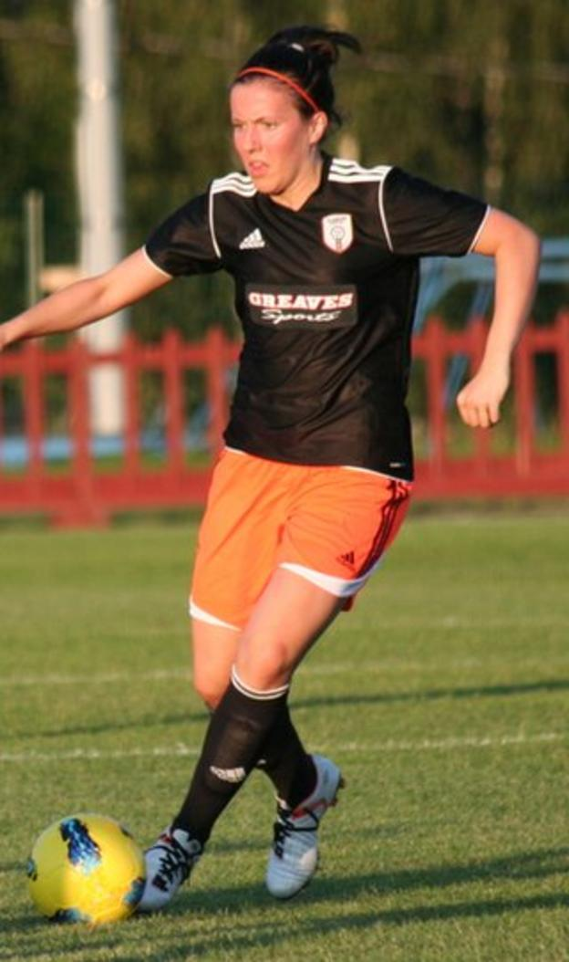 Leanne Crichton in action after coming on as a substitute at the break for Glasgow