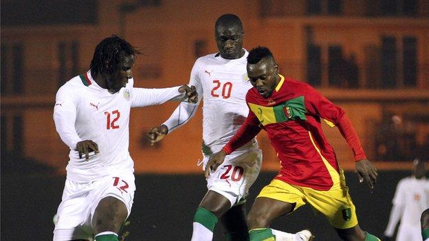 Guinea international Pascal Feindouno (right)