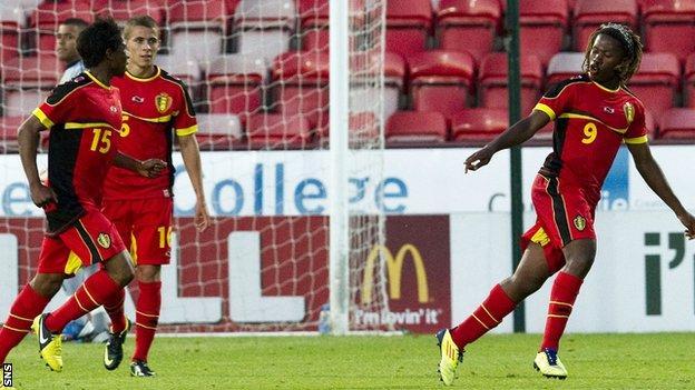 Ziggy Badibanga (right) scored the only goal at East End Park