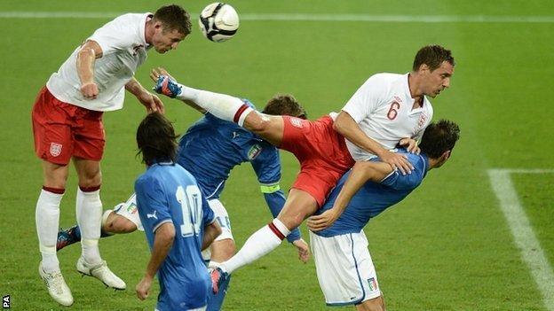 England threatened goal
