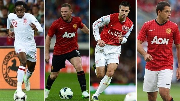 Welbeck, Rooney, Van Persie, Hernandez