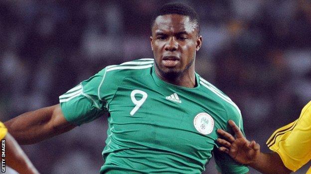 Nigeria and Everton striker Victor Anichebe