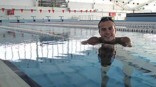Swimmer Iurii Martynov