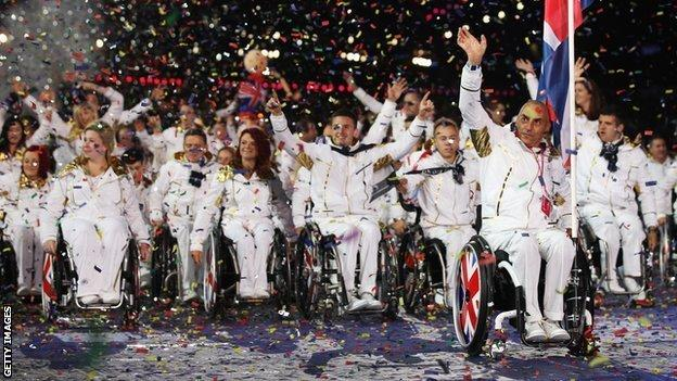 Great Britain's paralympic team